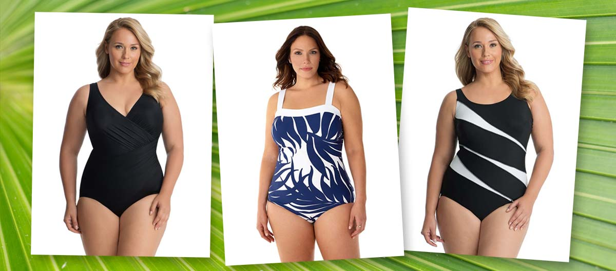 ff67686137e Finding the right plus size one piece swimsuit can be just the thing to  give you the look you want and the confidence boost you deserve.