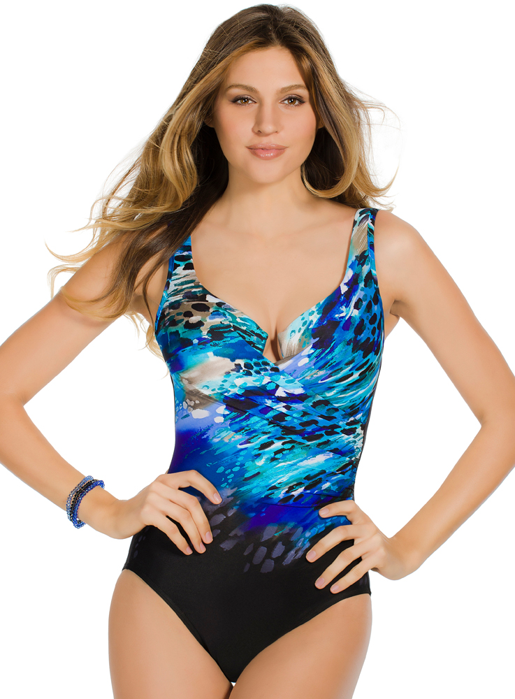 Miraclesuit Blue Attitude Escape 363266 Slimming Swim
