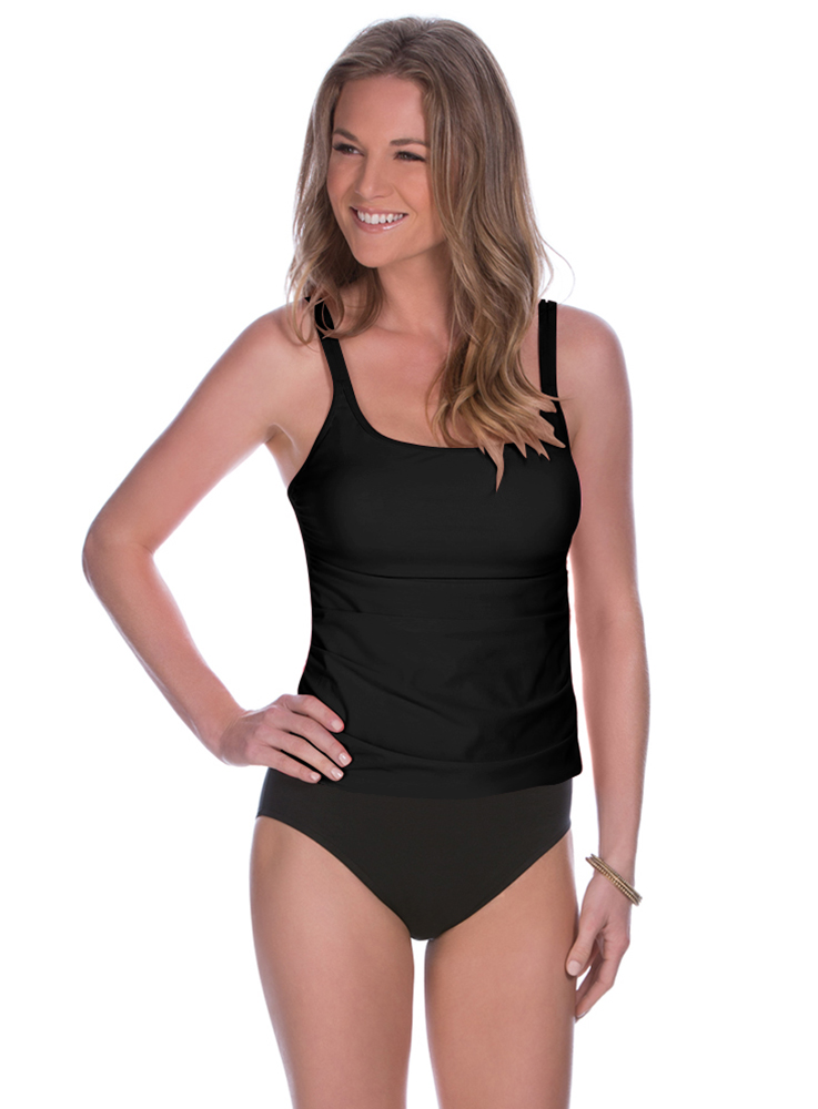 Miraclesuit Solid Avalon Top C441112 Slimming Swim
